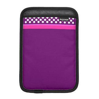 Purple / White Polka Dot Pink Band iPad Mini Cover