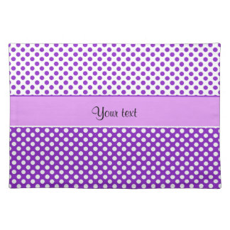 Purple & White Polka Dots Cloth Placemat