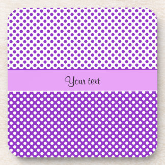 Purple & White Polka Dots Coaster
