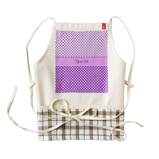 Purple & White Polka Dots Zazzle HEART Apron
