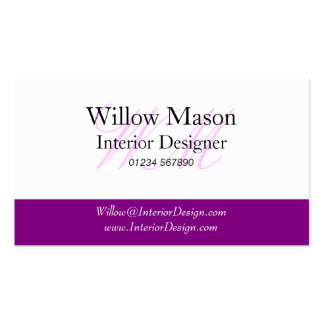 Purple & White Professional Business Card