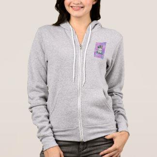 purple white rainbow unicorn hoodie