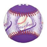 Purple | White Retro Baseball Sports
