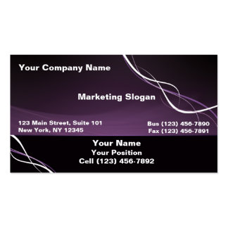 Purple White Ribbon Double-Sided Standard Business Cards (Pack Of 100)
