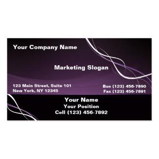Purple White Ribbon Business Card Template