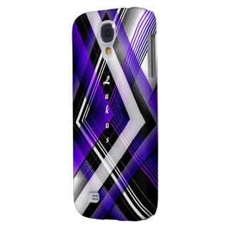 Purple & White Samsung Galaxy s4 cover for Lukas