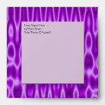 purple white satine waves pattern envelope
