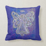 Purple White Silver Angel Decorative Throw Pillow