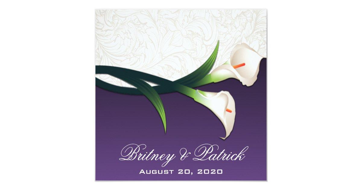 purple calla wedding invitations uk - 28 images - purple calla ...
