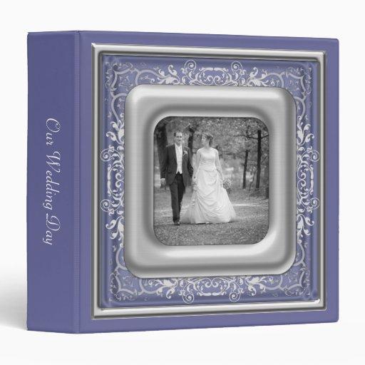 purple  white  u0026 silver photo frame wedding album binders
