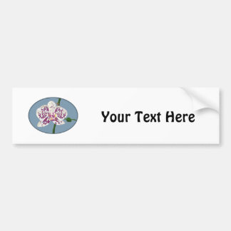 Purple & White Spotted Phalaenopsis Orchid Bumper Sticker