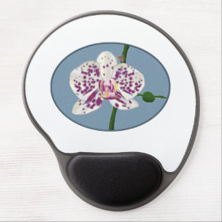 Purple & White Spotted Phalaenopsis Orchid Gel Mouse Pad