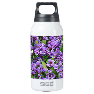 Purple & white Statice (limonium) flower in bloom Insulated Water Bottle