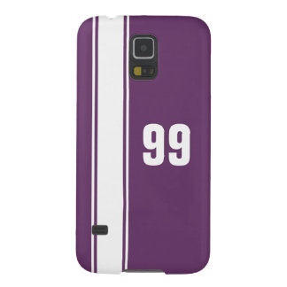 Purple & White Stripe Jersey Numbered Samsung Case