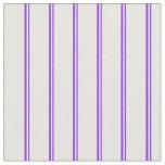 [ Thumbnail: Purple & White Striped/Lined Pattern Fabric ]