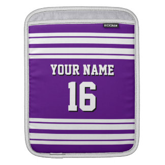 Purple White Team Jersey Custom Number Name Sleeve For iPads