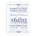 Purple White Typography Wedding Invitations