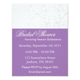 Purple & White Vintage Bridal Shower Invitations