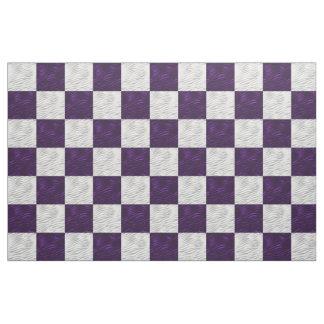 Purple & White Wavy Checkerboard - Fabric Prints