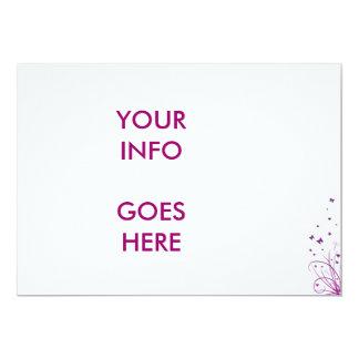 Purple & White Wedding Invitation