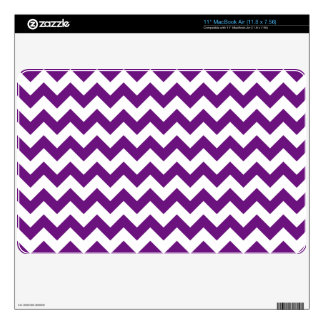 Purple White Zigzag Stripes Chevron Pattern Decal For The MacBook Air