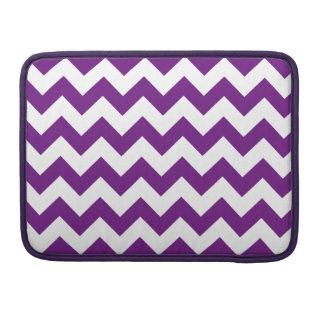 Purple White Zigzag Stripes Chevron Pattern MacBook Pro Sleeve