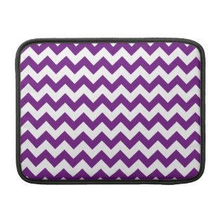 Purple White Zigzag Stripes Chevron Pattern MacBook Sleeve
