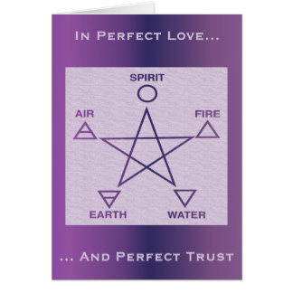 Purple Wiccan Rites of Passage Card