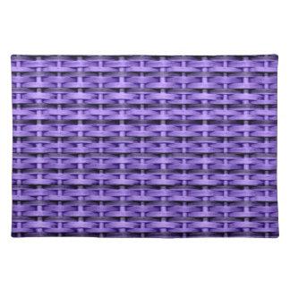 Purple wicker graphic design cloth placemat