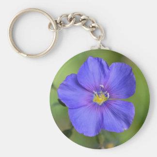 Purple Wild Flower Keychain