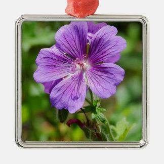 Purple wild  flower metal ornament