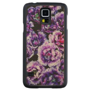 Purple Wild Flowers Carved® Maple Galaxy S5 Slim Case