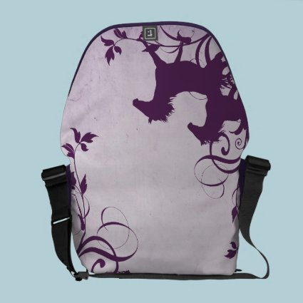 Purple Wild Horses Courier Bags