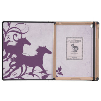 Purple Wild Horses iPad Cases