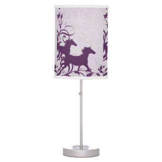 Purple Wild Horses Lamps