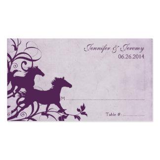 Purple Wild Horses Seating Card