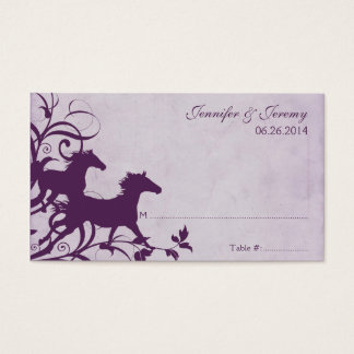 Purple Wild Horses Seating Card