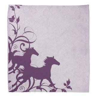 Purple Wild Horses Bandanas