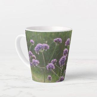 Purple Wild Summer Flowers Latte Mug