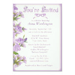 Purple Wildflower Bridal Shower Invitation