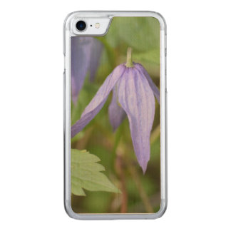 Purple Wildflower Carved iPhone 7 Case