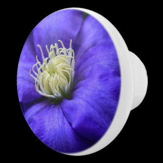 Purple Wildflower Clematis Custom Cabinet Knob /