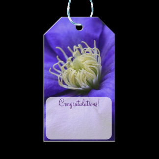 Purple Wildflower Clematis Personalized Gift Tags