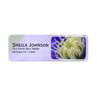 Purple Wildflower Clematis Personalized Label