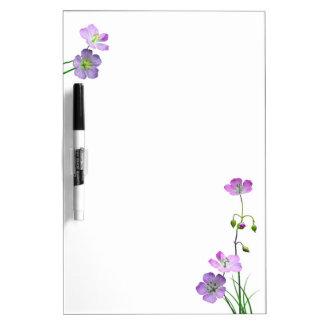 Purple Wildflower Dry-Erase Board