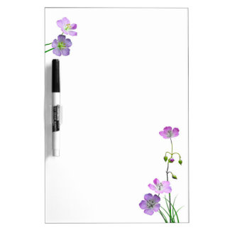 Purple Wildflower Dry Erase Whiteboard
