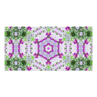 Purple Wildflower Kaleidoscope Art 1 Card