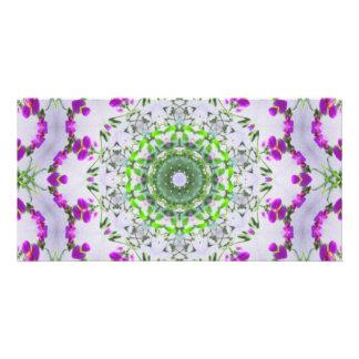 Purple Wildflower Kaleidoscope Art 5 Card