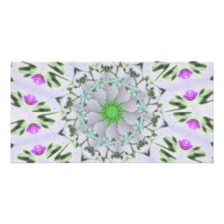 Purple Wildflower Kaleidoscope Art 7 Card