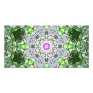 Purple Wildflower Kaleidoscope Art 8 Card